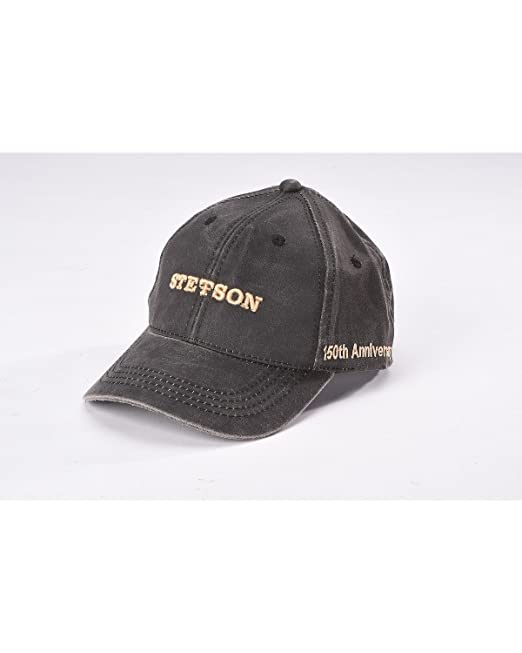 Stetson Men s Anniversary Edition Oil Skin Ball Cap Black One Size ... eabc3fcffe9