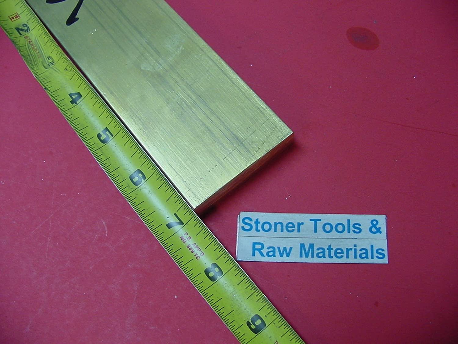 "1//2/"" x 2/"" C360 BRASS FLAT BAR 10/"" long Solid .500/"" Plate Mill Stock H02"