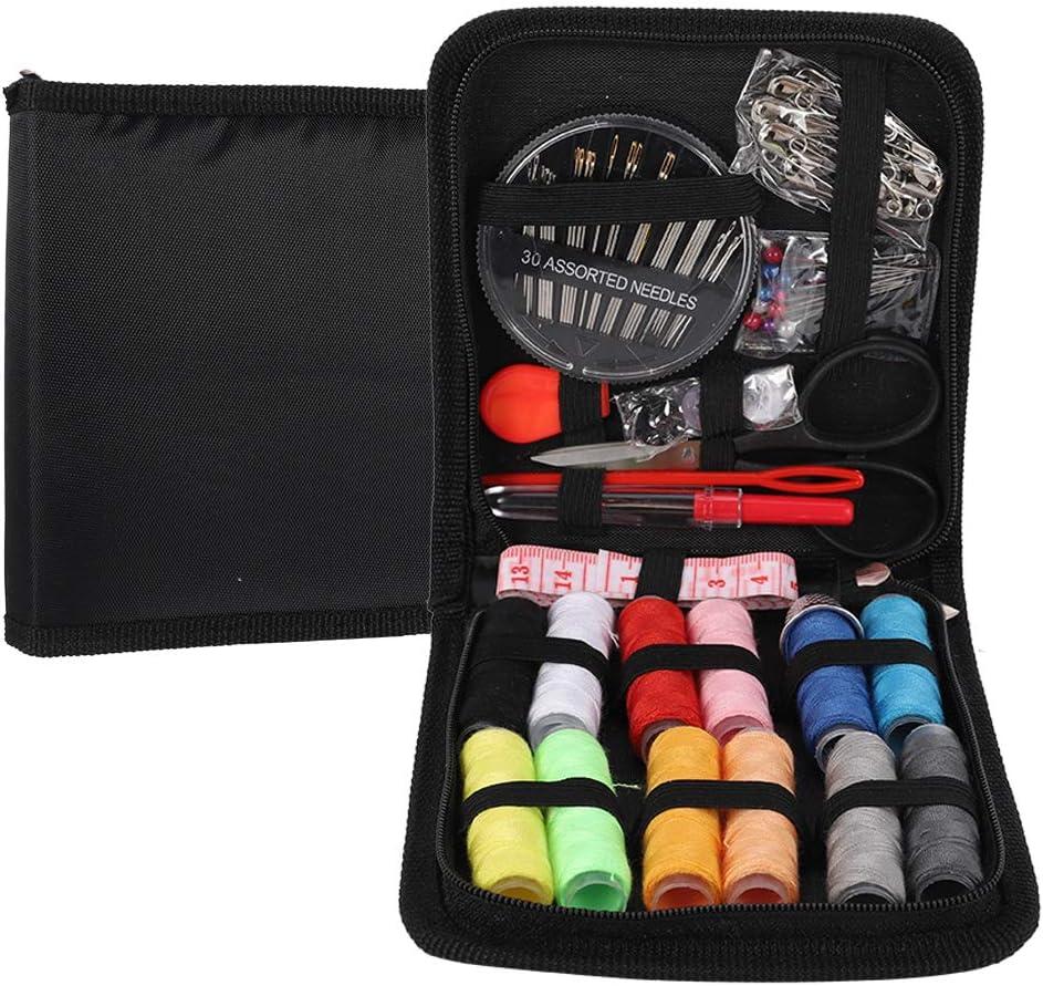 Thursday April Kit de Costura de Viaje Suministros de Costura DIY con Accesorios de Costura Mini Set da Portátil para Principiantes con Eestuche Premium