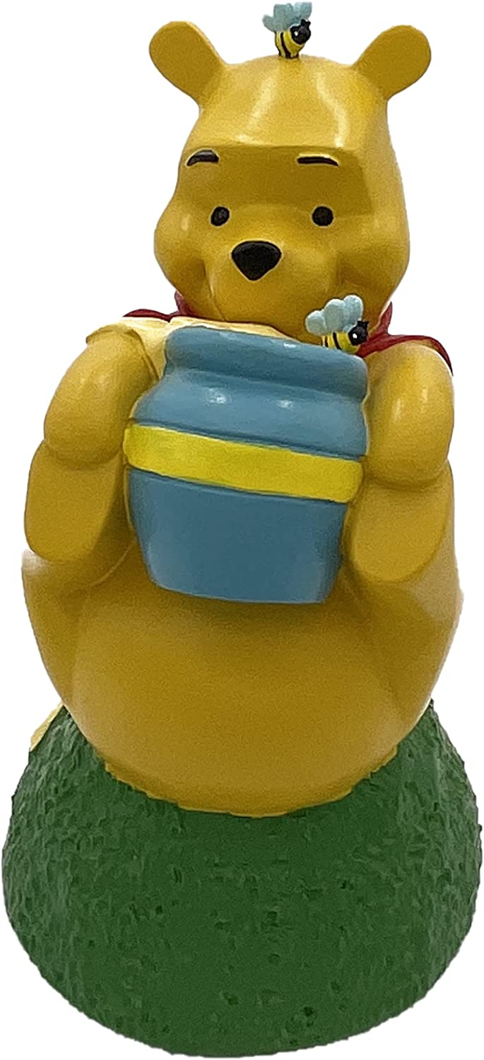 Winnie The Pooh Garden Statue, Will add Character to Your Outdoor Living Space. This Product is a Generous 7 inches Tall and 5 inches Wide, Made of Durable cast Stone Resin.