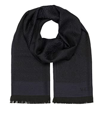 22621551032 Amazon.com  Versace Collection Navy Medusa Geometric Scarf  Clothing