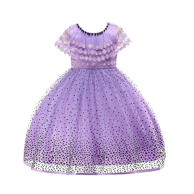 Vestidos Bebe Niña Vestido de Encaje con Estampado de Lunares Niños Niñas  Disfraces de Princesa Vestidos de Fiesta Tutu QINGXIA ZI  Amazon.es  Ropa y  ... 891e5247aa1a
