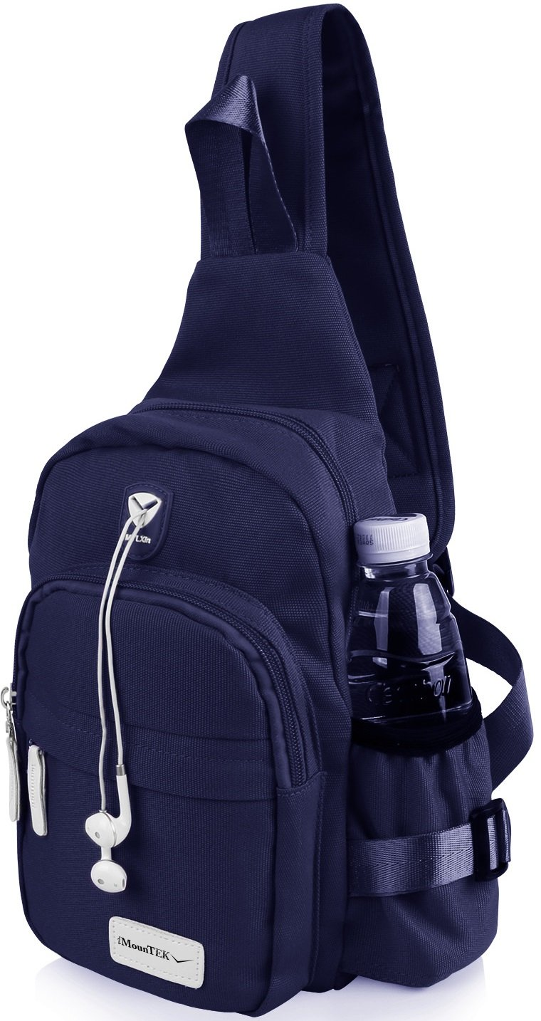 GPCT Nylon Crossbody Shoulder Chest Sling Bag Daily Travel Backpack (Blue) by GPCT (Image #2)