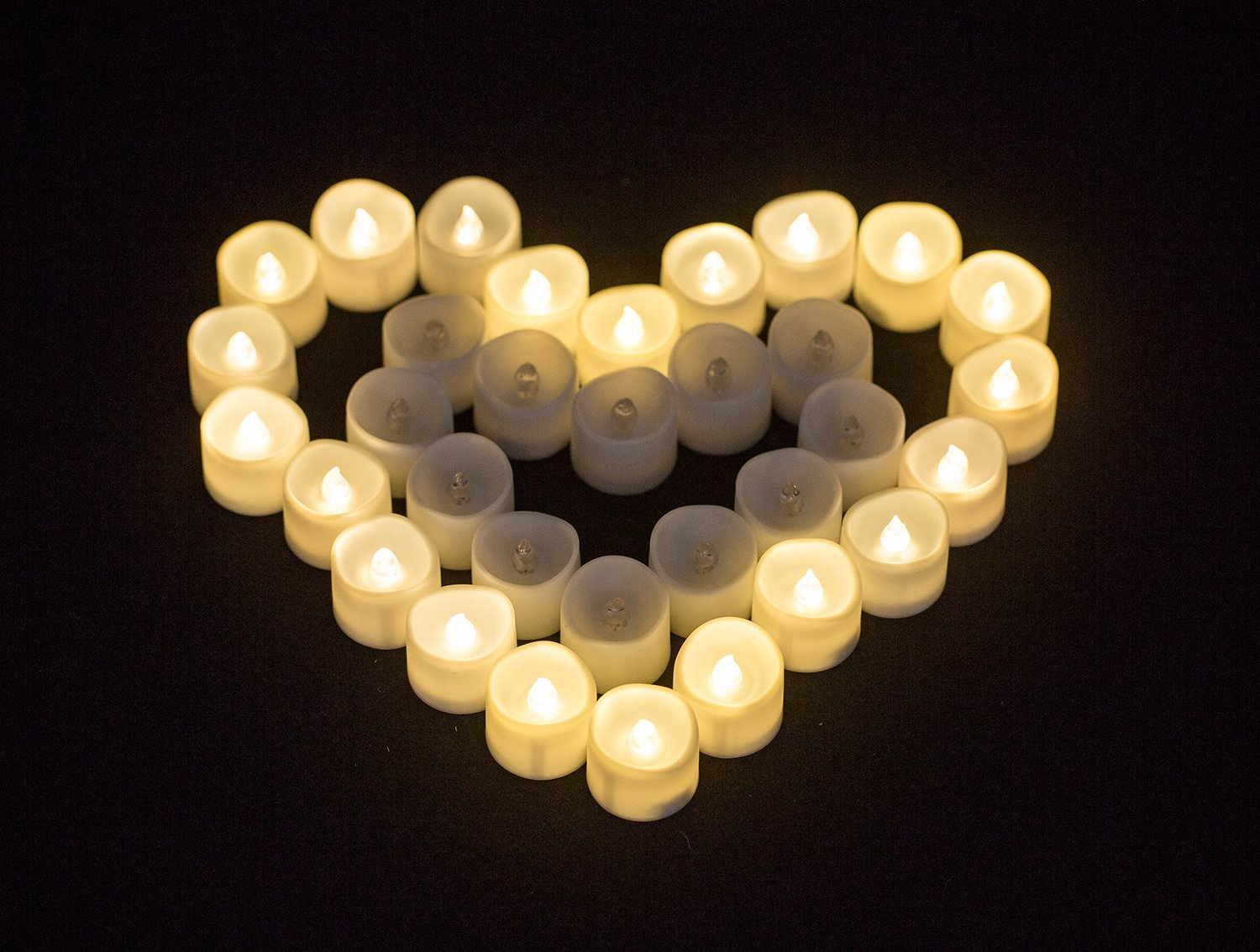 Electric Fake Tealight for Seasonal /& Holiday Decoration /& Wedding /… Lupan Pack of 12 LED Battery Operated Tea Lights Bulk Flameless Votive Tealight Candle with Warm White Flickering Candles