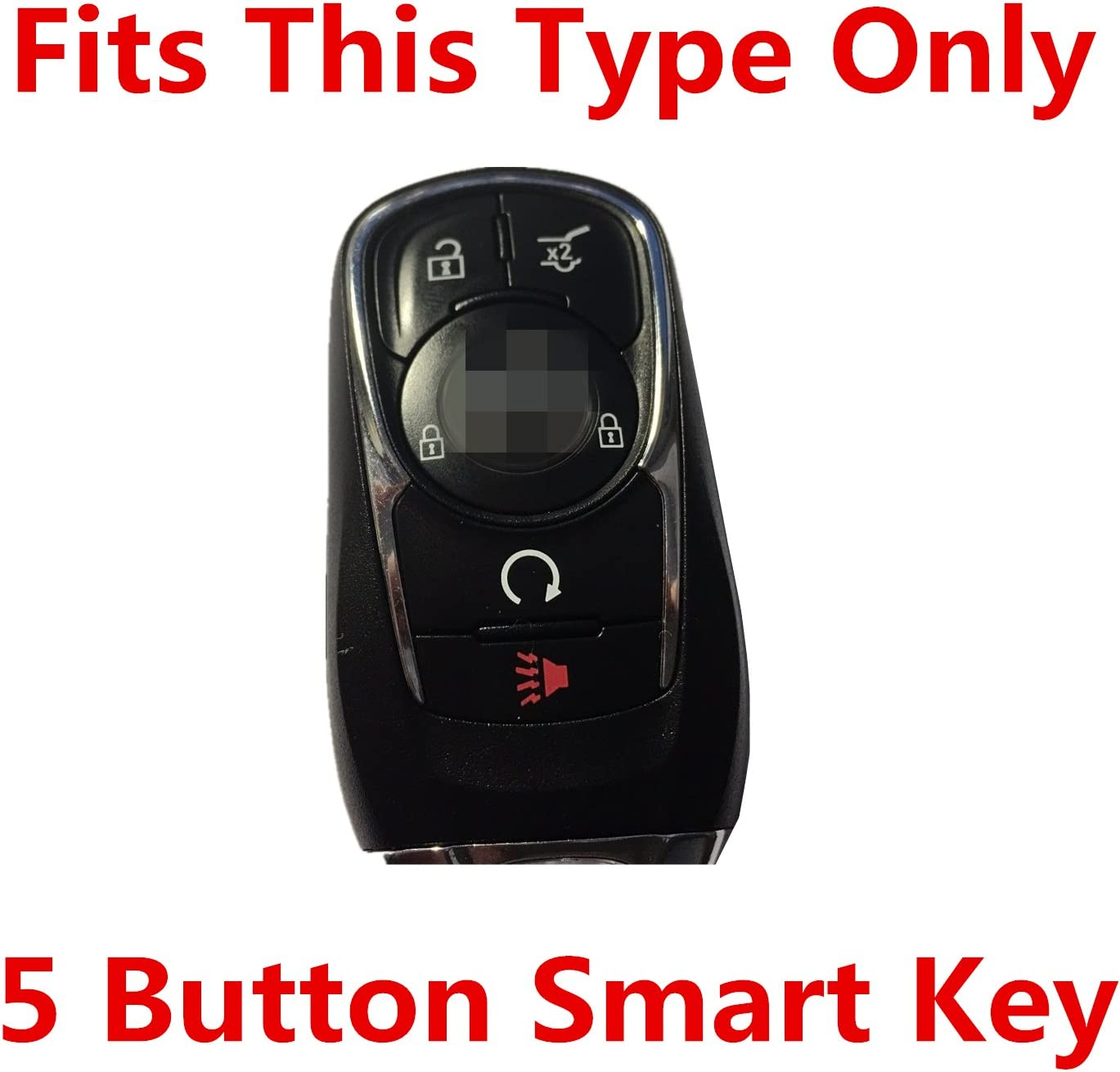 Rpkey Silicone Keyless Entry Remote Control Key Fob Cover Case protector For 5 button 2016 2017 Buick Cascada Envision Essence LaCrosse 13508414 HYQ4AA HYQ4EA
