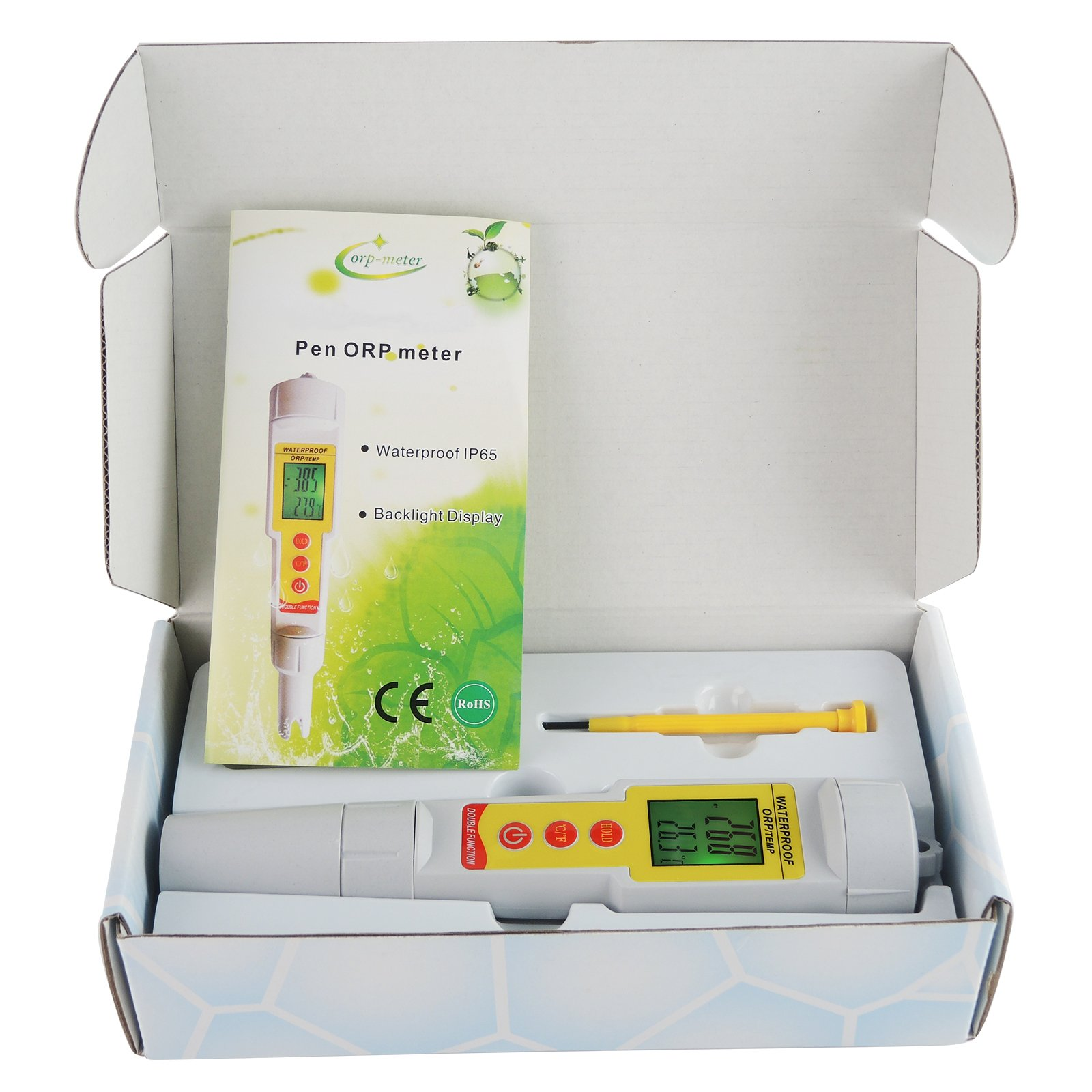 Gain Express 2-in-1 Pen Type ORP & Temperature (°C/ °F) Meter Thermometer Water Quality Tester IP65 Waterproof Level by Gain Express (Image #2)