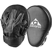 GROOFOO Boks-pads Volwassenen Bokskussen Gebogen Focuspad Impactabsorptie voor Bokskleding Kickboxing Taekwondo Boks…