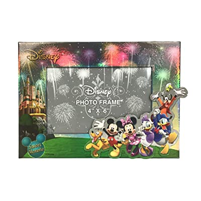 "Disney Exclusive Mickey & Gang Firework 4"" X 6"" Photo Frame: Home & Kitchen"