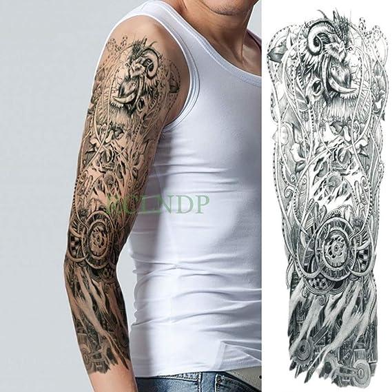 Etiqueta engomada del tatuaje a prueba de agua Lion Wing Warrior ...