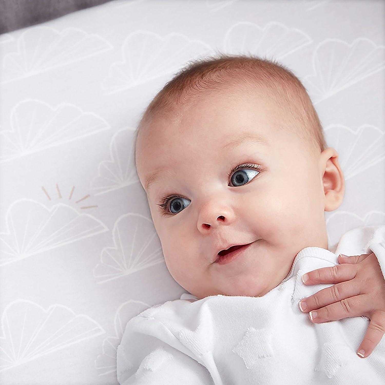 Grau Shnuggle Bettlaken-Set f/ür Babybett