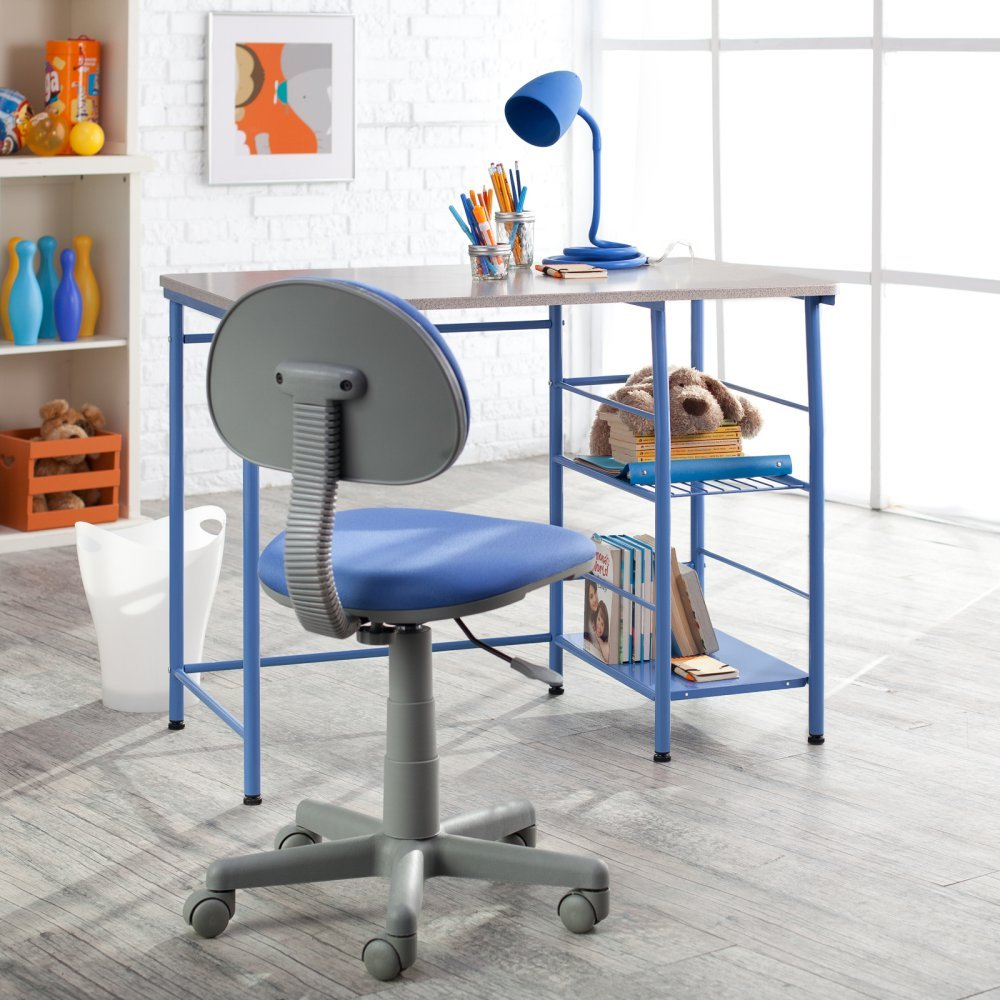 Amazoncom Study Zone II Desk Chair Blue Kitchen Dining