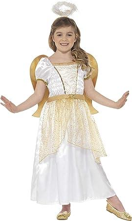 Smiffys-21811M Disfraz de ángel y Dorado, con Vestido, alas ...