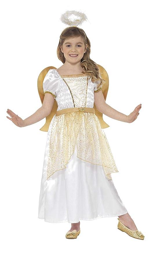 Smiffys Smiffys-21811L Disfraz de ángel y Dorado, con ...