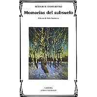 Memorias del subsuelo (Letras Universales)