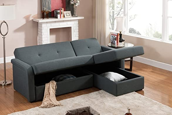 sectional sofas for studios amazoncom baxton studio leicestershire sectional sofa gray