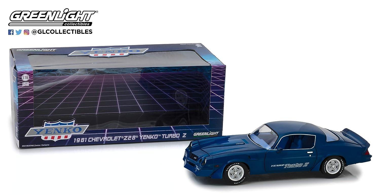 Grünlight 1981 1981 1981 Chevrolet Z/28 Yenko Turbo Z 13520 Blau, 1:18 Die Cast f0c363