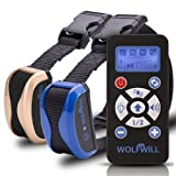 WOLFWILL Remote Dog Training Collar - 800 Yards Waterproof & Rechargeable Collar with Automation Adjustable, Beep, Vibration, Flashlight for Dog Lovers(2 Collars)