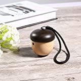 Nut Speaker ,MindKoo Creative Mini Wireless Bluetooth Speaker with Sling and Lightweight Wood Grain Nut Shape Speaker for iPhone and Android Phone