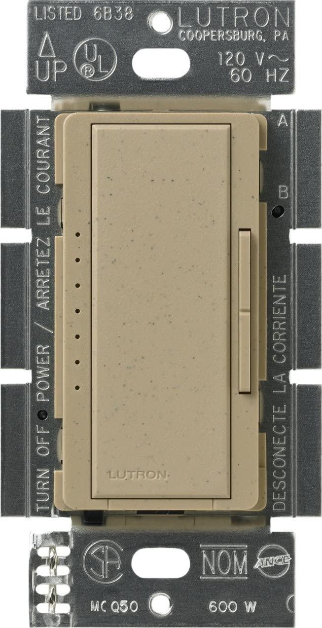 Biscuit Lutron MSCELV-600M-BI Maestro 600 Watt Electronic Low Voltage Multi-Location Digital Dimmer