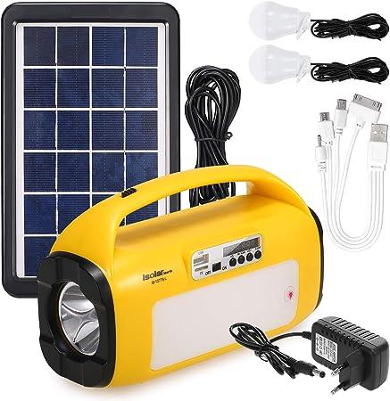 Ajcoflt Sistema de iluminación del generador Solar Kit de ...