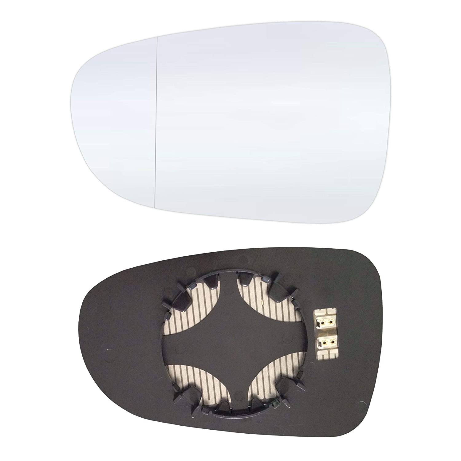 Left Driver's Side Aspherish Mirror Glass with Plate and Heater #AM-FDGY95-LWAH Sylgab