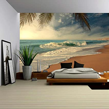 Amazoncom wall26 Tropical Beach Removable Wall Mural Self