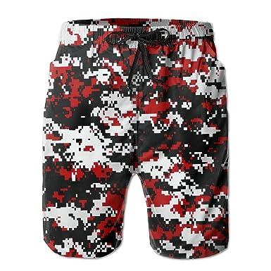 Men Board Shorts Red Camouflage Camo Swimming Trunks  79fa5d170eb