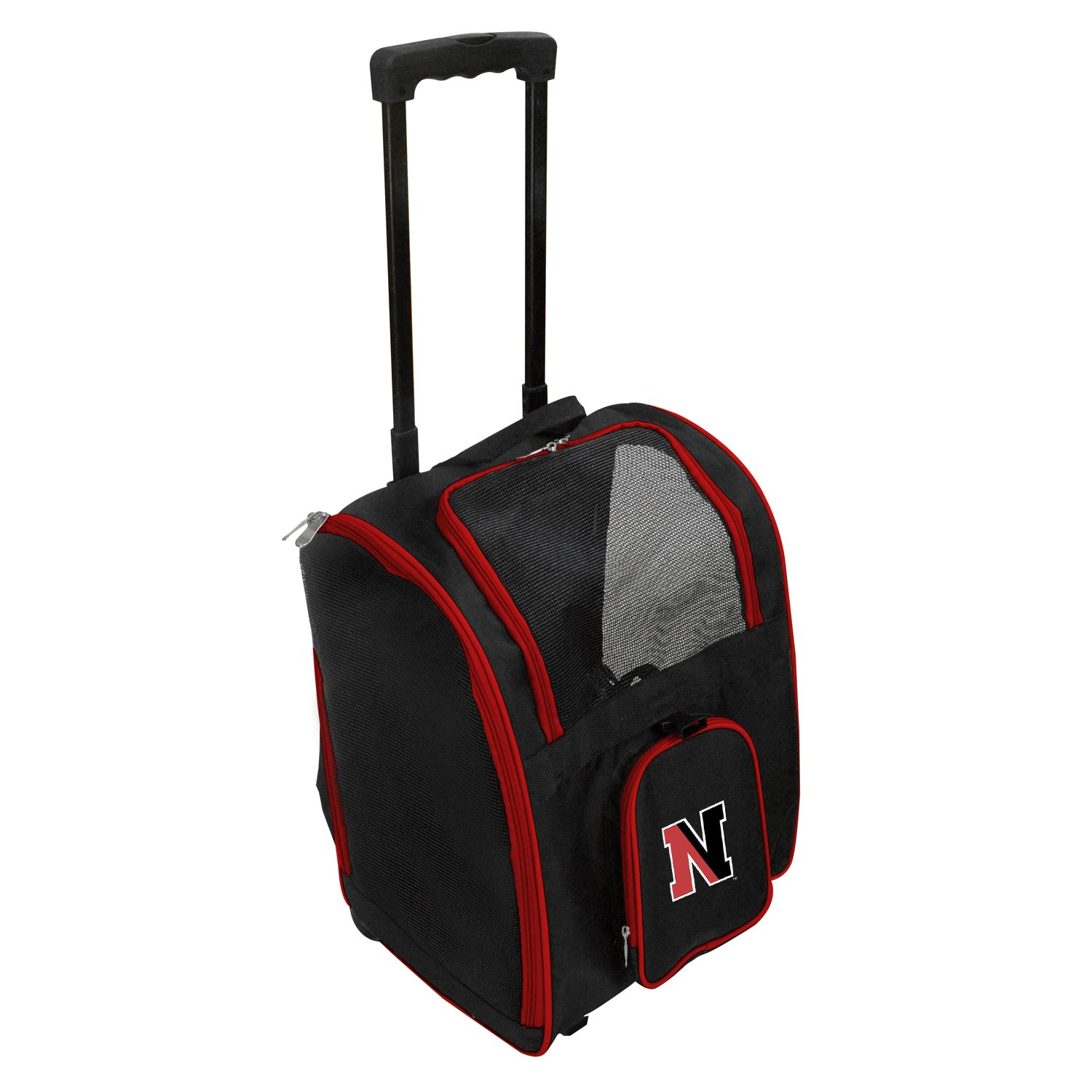 Denco NCAA Northeastern Huskies Premium Wheeled Pet Carrier