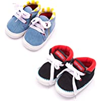 Infano Cotton Baby Shoes Combo (6-12 Months,2 Pairs)
