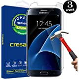Galaxy S7 Screen Protector, [3 PACK] cresawis Glass Protector [Tempered Glass] 9H Hardness, Bubble Free [Case Friendly]