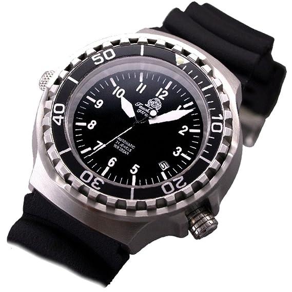 Tauchmeister Reloj de Muñeca para Hombre Para submarinismo: Amazon.es: Relojes