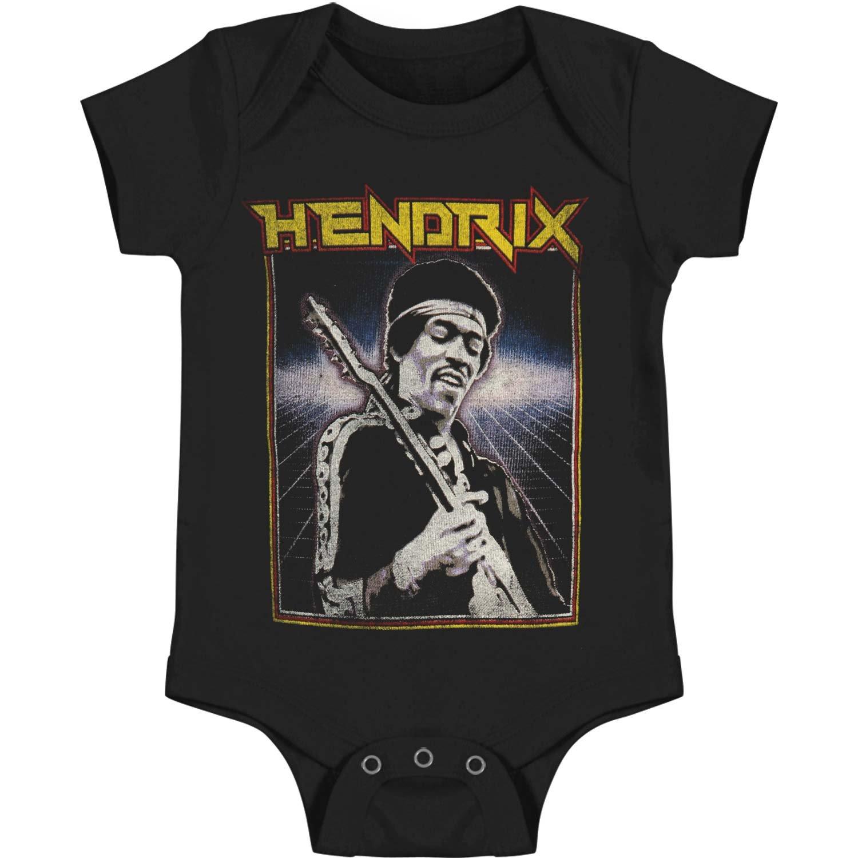 Jimi Hendrix - Unisex-Baby Grid T-Shirt