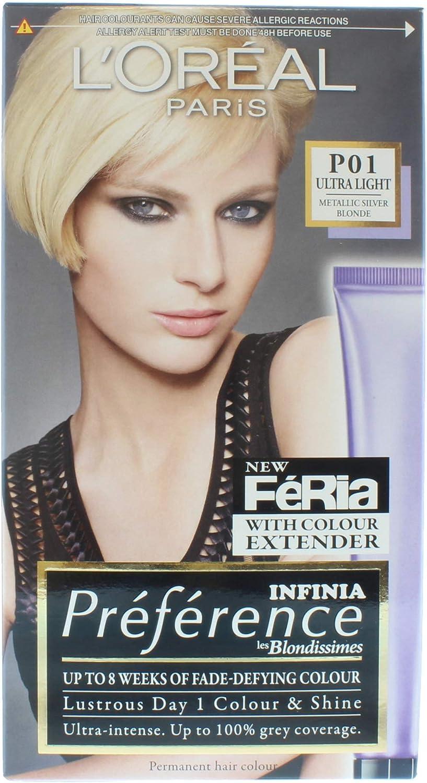 LOreal Preference Color permanente para el cabello Metálico Plata Rubio