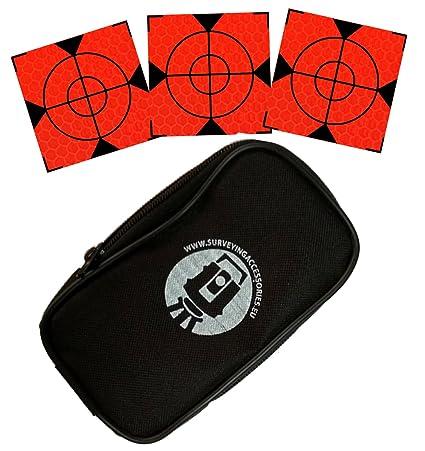 Weiß 100 Stück Reflex Zielmarken 60mm x 60mm Tasche