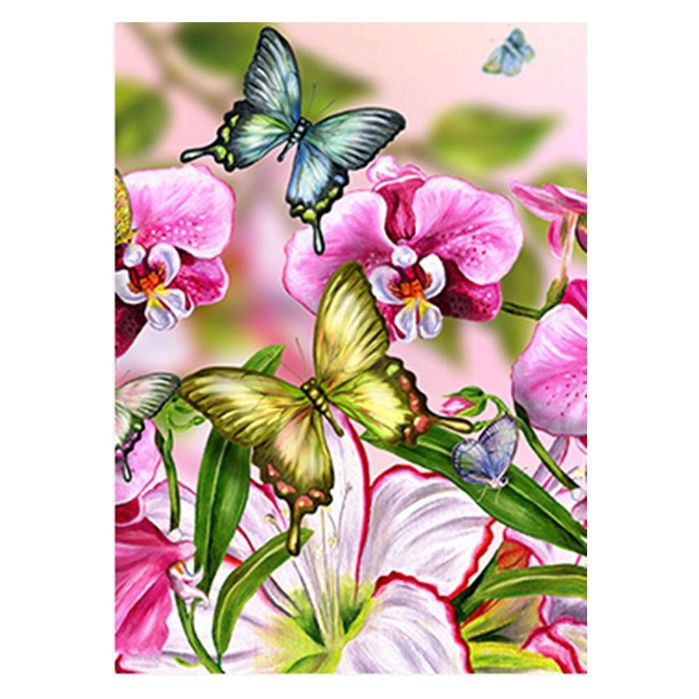 mikolotuk Kit de broderie de peinture de diamant pleine de bricolage de papillon point de croix Craft