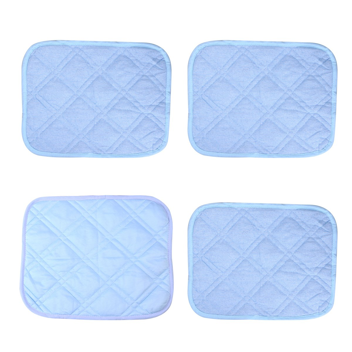 UEETEK 4pcs Pet Cooling Mat Pet Self Comfort Cooling Pads Cool Beds for Dogs and Cats