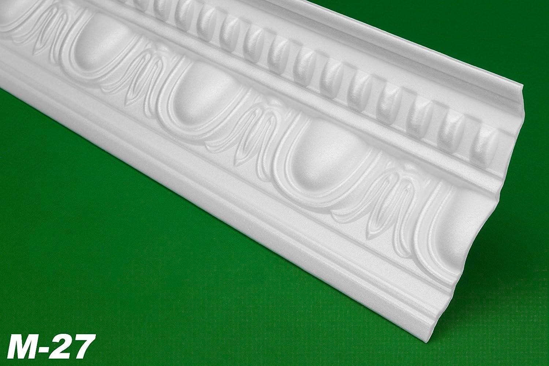 2 Metre Trim Strip Profile Crown Molding Decor Stuck 100x125mm, M-27 HEXIM