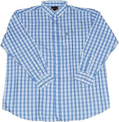 KAMRO - Camisa de piqué para hombre, tallas grandes, diseño a ...