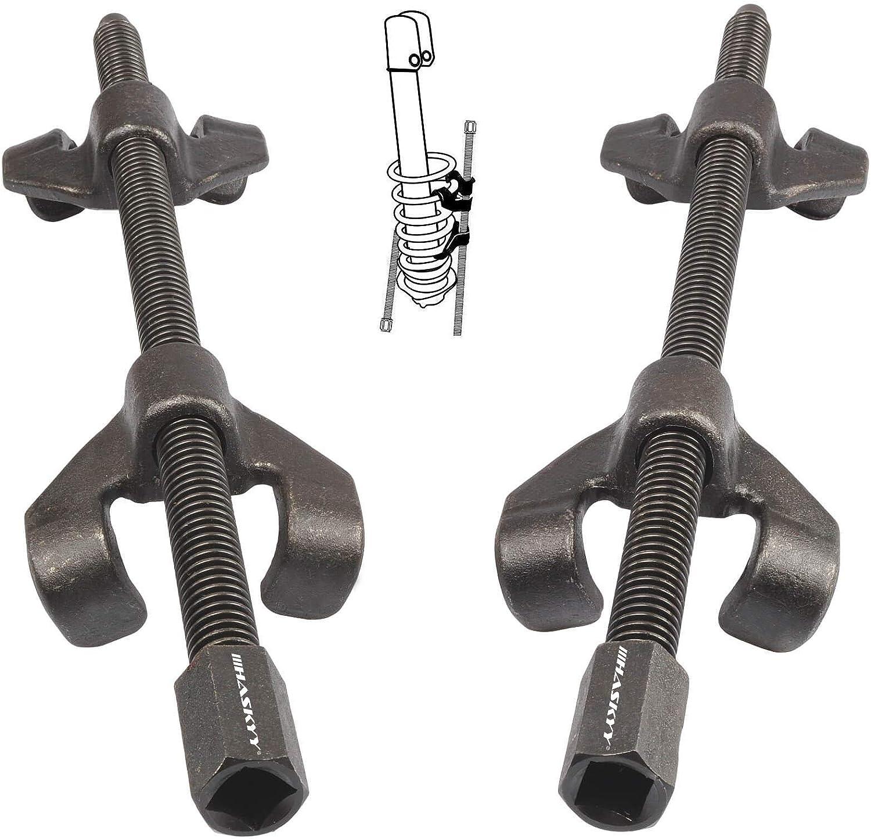 Haskyy kit Compresor Muelles Amortiguador para Coche de 380mm I Abarca 38 cm I Compresor para Montaje de los Amortiguadores del Coche | Herramientas para Coches