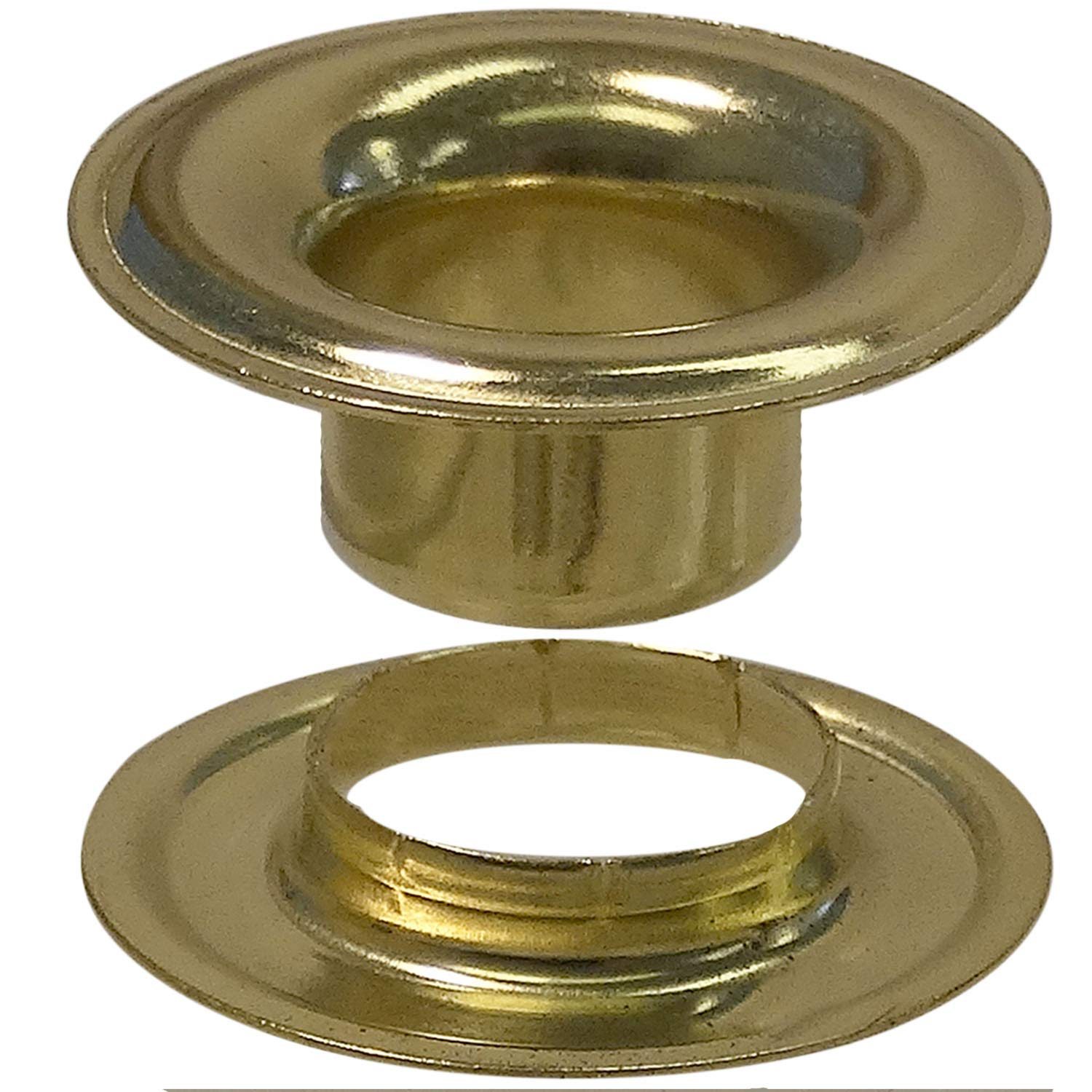 Stimpson Sheet Metal Grommet and Neck Washer Brass Durable, Reliable, Heavy-Duty #1 Set (720 Piece of Each)