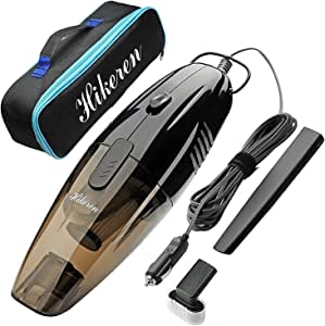 Hikeren Mini Hand-held Automotive Vacuum, 12V Wet&Dry Portable Vacuum Cleaner with 4.5 m Power Cord and One Carrying Bag