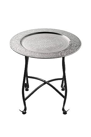 Petite Table Basse Orientale Pliante En Métal Sule 40cm Ronde Table De Chevet Marocaine Guéridon Pliant Table D Appoint Démontable
