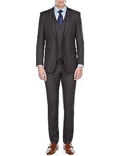 Amazon.com: braveman para hombre Slim Fit 3pc trajes: Clothing