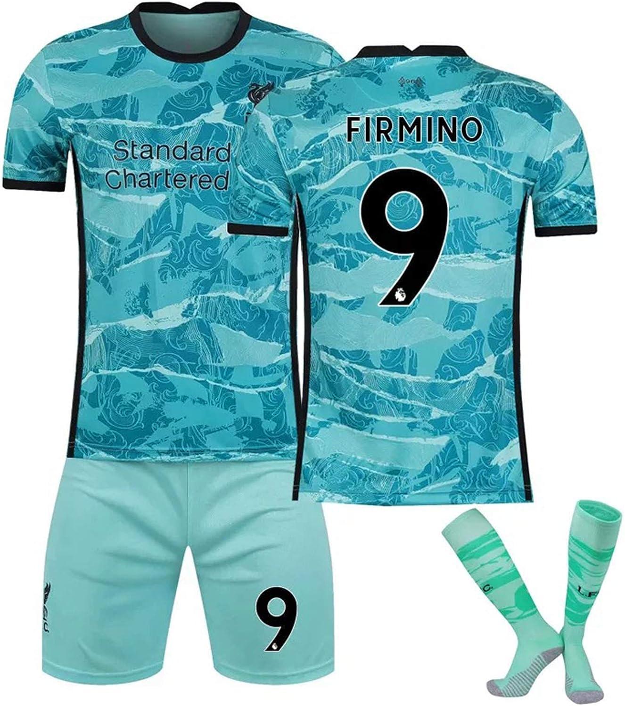 CFLL 2021 Liverpool F.C. Short Sleeve Jersey Set, Salah Soccer Training Jersey, Men's Home and Away Football Jersey