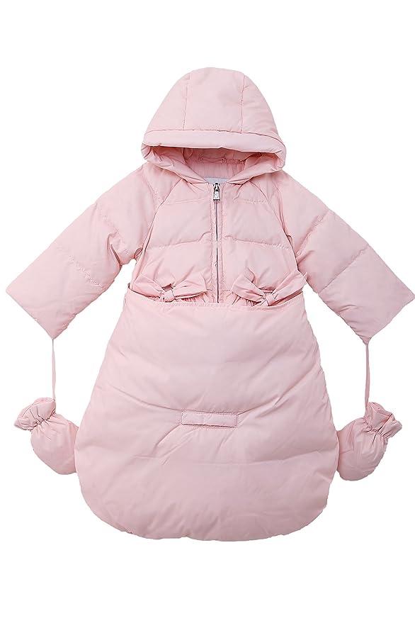 61d339e13 Oceankids Baby Girls Newborn Pram Down Bunting Snowsuit Detachable ...