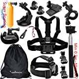 Togetherone Essential Accessories Bundle Kit for APEMAN Apeman A80 Apeman A70 Action Camera, Waterproof Camera Action Camera Sport Camera Action Cam, GoPro 5 and Gopro Hero Accessory Set