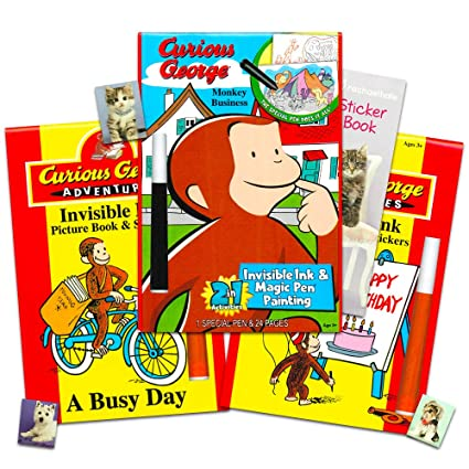 Amazon.com: Curious George Coloring and Activity Book Set for Kids ...