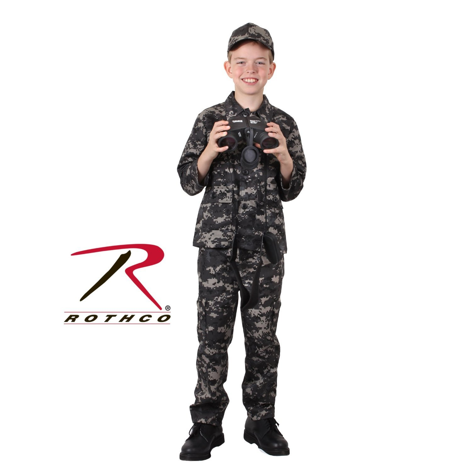 6-8 Small Rothco Kids BDU Pants Subdued Urban Digital Camo