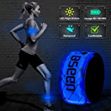 B.Seen BSeen 2ed Generation LED Slap Band, Patented Heat sealed design, Glow in the Dark, Water/sweat resistant, highly reflective printing, artistic designs, fashion meets safety