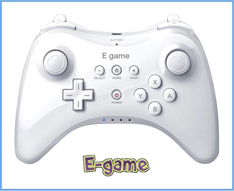 【E-game】 WiiU PRO 콘트롤러 (진동 기능 첨부 와 WiiU전용 wireless 콘트롤러)크로스 & 일본어 설명서 & 1년 보증이 붙어 있음「화이트」